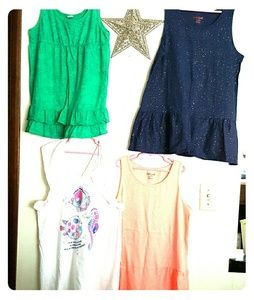 Other - CUTE pack of 4 Girls XL cotton tank tops